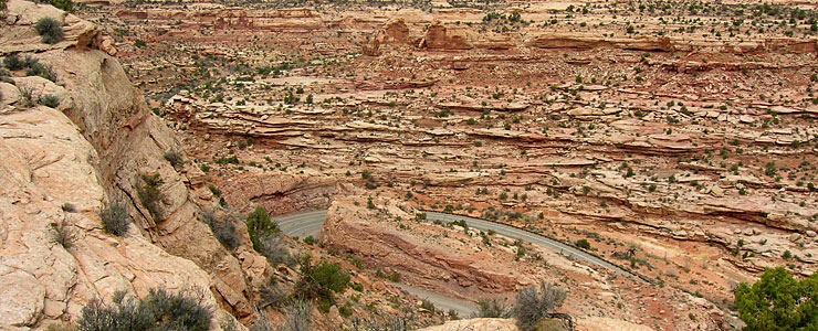 Switchbacks on the Dead Horse Point Scenic Drive
