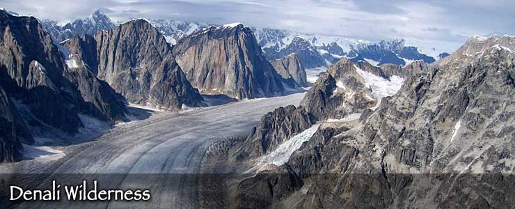 Ruth Glacier in Denali Wilderness