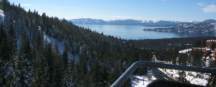 View from the Lakeview Lift at Diamond Peak