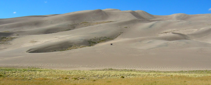 A view of the sand dunes