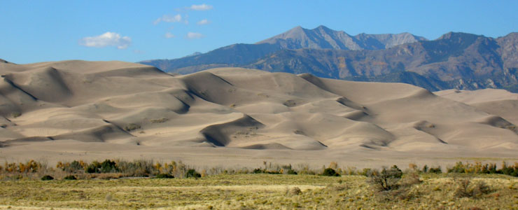 Looking north across the Great Sand Dunes