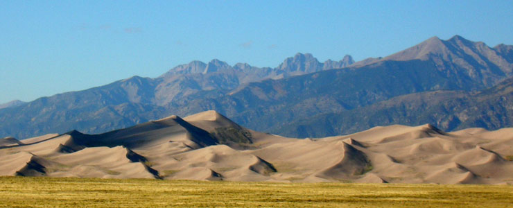 The view north across Great Sand Dunes National Park