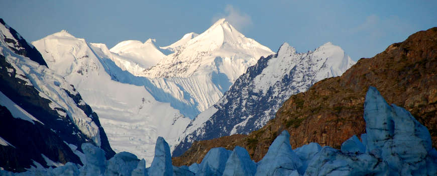 The Fairweather Range in Glacier Bay National Park