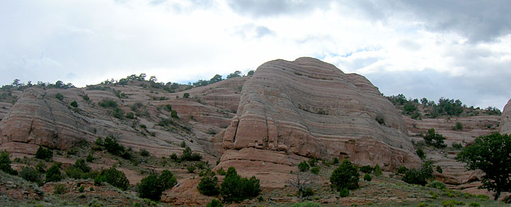 Typical red rocks formation in McKinley County, New Mexico