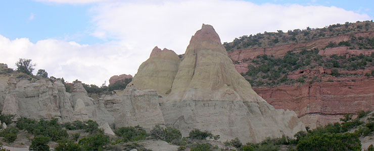 Typical rock formations in McKinley County, New Mexico