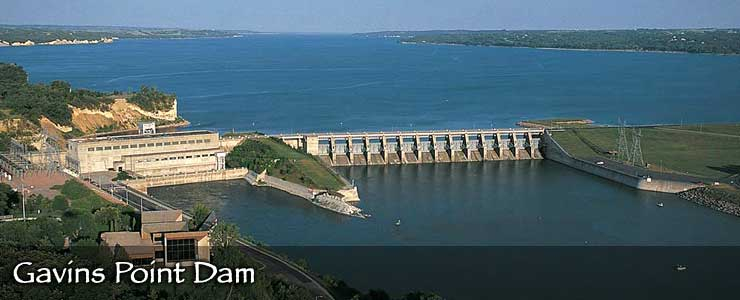 Gavins Point Dam on the Missouri River