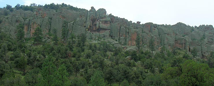 Granite formations in Gila National Forest, Catron County, New Mexico