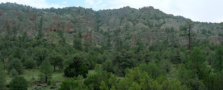 Granite formations in Gila National Forest