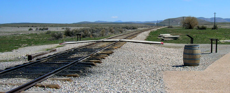 Looking east from the Golden Spike