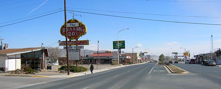 Route 66 through Grants