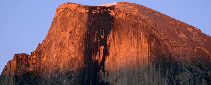 Half Dome rises above Yosemite Valley