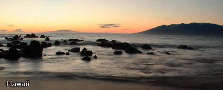 Maui beach at sunset, Hawaii