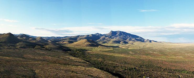 The Animas Mountains in Hidalgo County