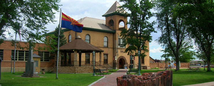 The old Navajo County Courthouse in Holbrook, now a museum
