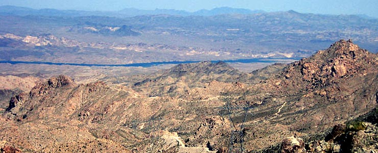 Looking east across Ireteba Peaks Wilderness