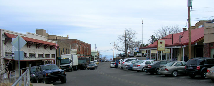 In downtown Jerome