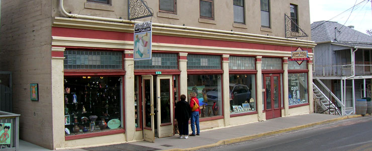 Typical storefronts in Jerome
