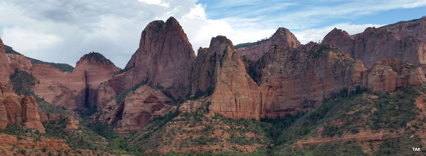A view in the Kolob Canyons area of Zion National Park