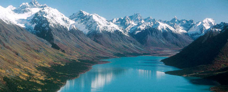 Upper Twin Lake in Lake Clark National Park