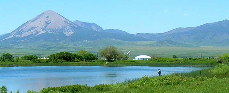 Fishing at La Veta Town Lakes