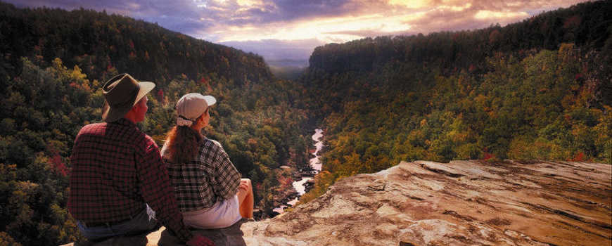 A view of Little River Canyon National Preserve