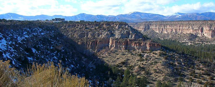 Near the upper end of Los Alamos Canyon
