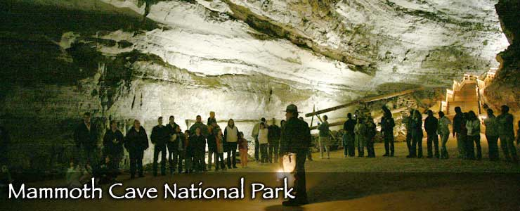 A tour group in Mammoth Cave National Park
