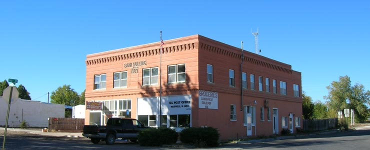 The old Bank Building in Maxwell