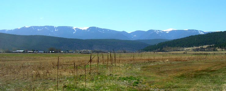 Looking west to the Sangre de Cristo Mountains from Mora