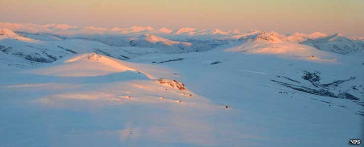 Alpenglow at Noatak National Preserve