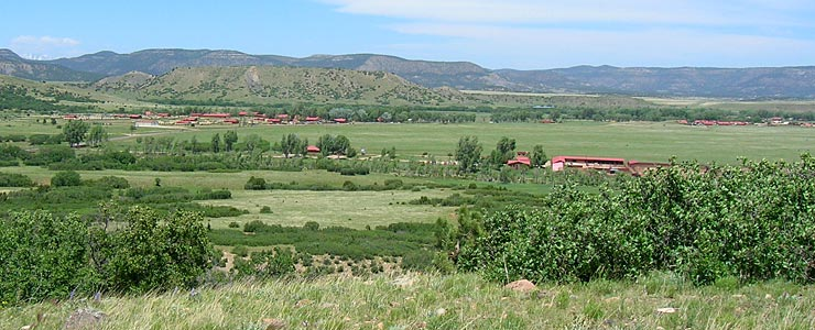 Looking across the Philmont Scout Ranch Headquarters area