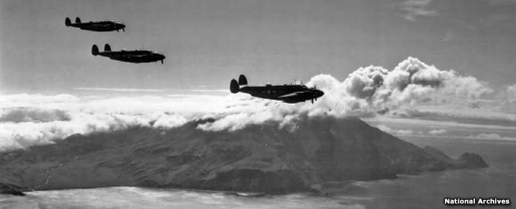 Planes in flight, World War II Valor in the Pacific National Monument