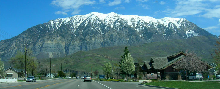 Coming up to the beginning of the Provo Canyon Scenic Drive