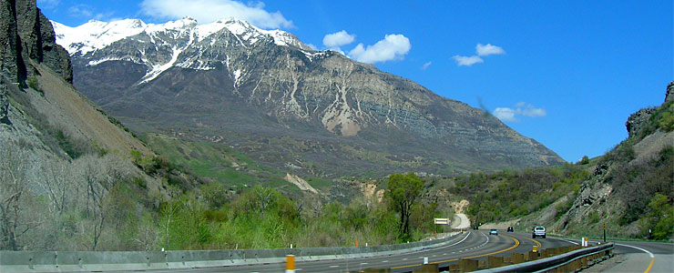 Mount Timpanogos from the beginning of the Provo Canyon Scenic Drive