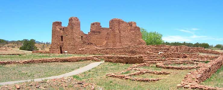 The ruins at Quarai, Salinas Pueblo Missions National Monument