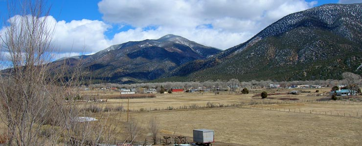 View in the Questa area
