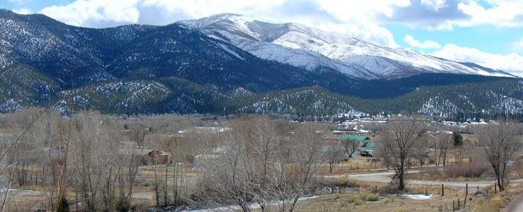 Looking southeast across Questa