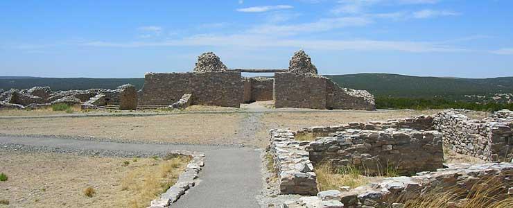 The ruins at Gran Quivira, Salinas Pueblo Missions National Monument