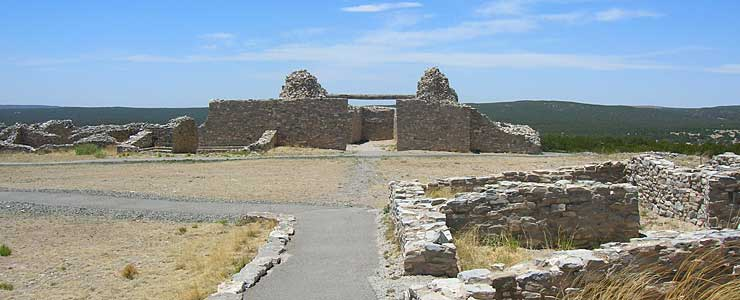 The mission and pueblo ruins at Gran Quivira