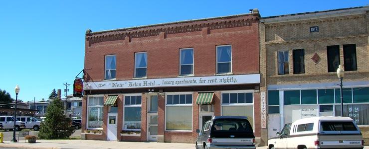 On historic 1st Street in Raton