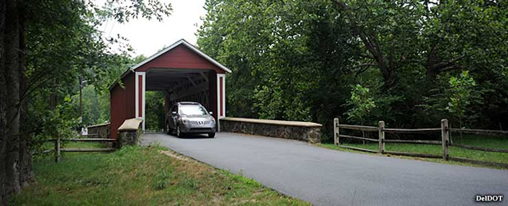 The Ashland Covered Bridge along the Red Clay Valley Scenic Byway