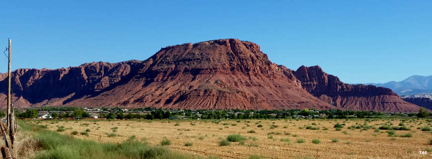 A view of Red Mountain