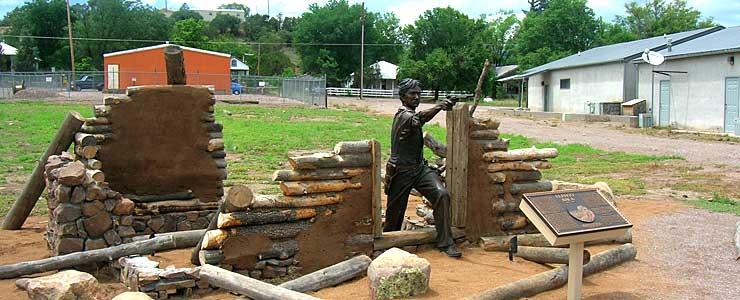 The Elfego Baca Memorial in Reserve