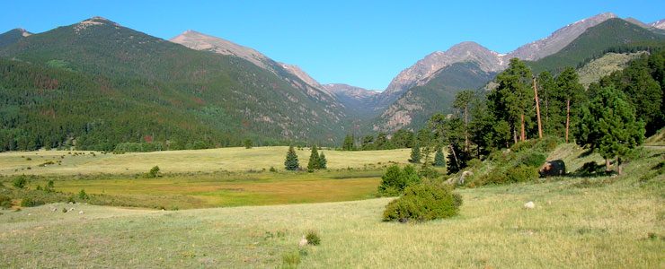 At the foot of Trail Ridge Road on the east side of Rocky Mountain National Park