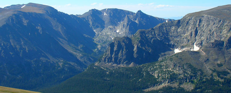 Peaks high in Rocky Mountain National Park