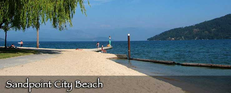Sandpoint City Beach on Lake Pend Oreille