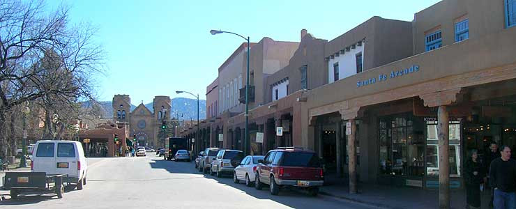 South side of the Santa Fe Plaza