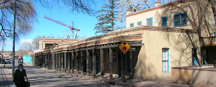 In downtown Santa Fe
