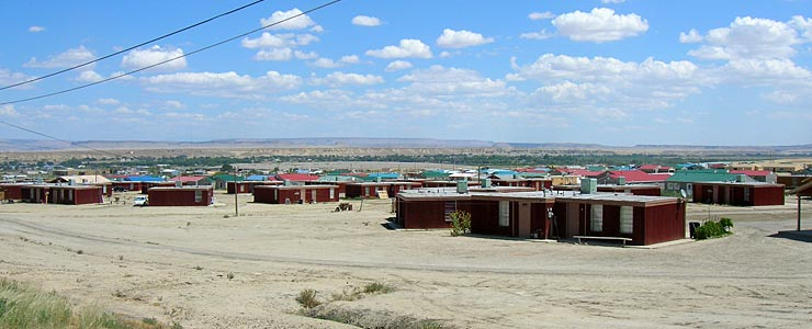 A residential area in Shiprock
