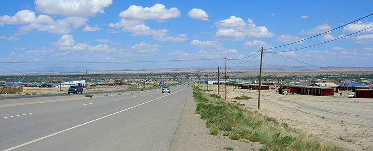 Coming into Shiprock from the south